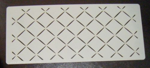 Criss Cross Cake Stencil Large 5 inch deep