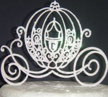 Cinderella Princess Carriage  Cake Topper