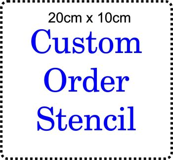 Custom order Cake Bespoke Stencil 8 inch x 4 inch