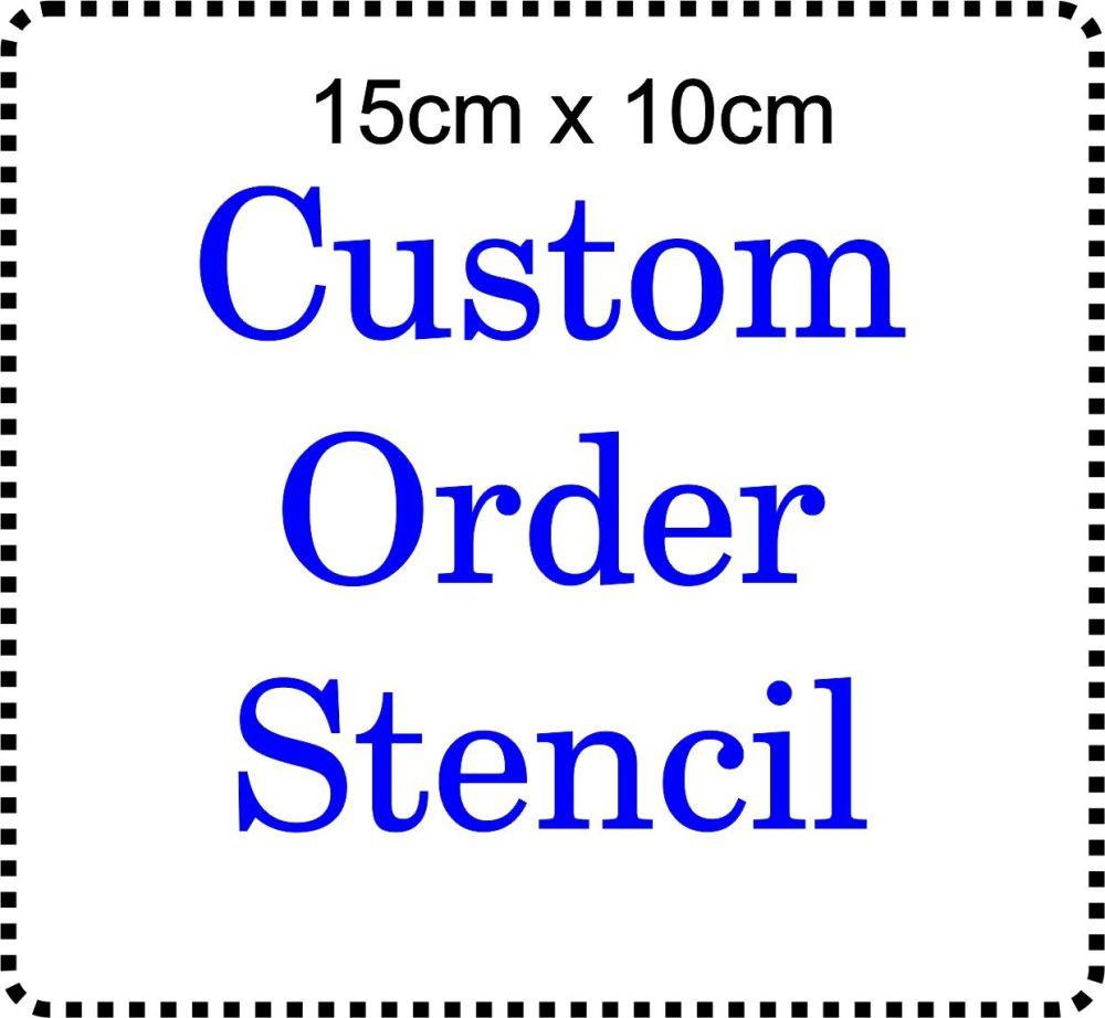 Custom Order Cake Bespoke Stencil 6 inch by 4 inch deep