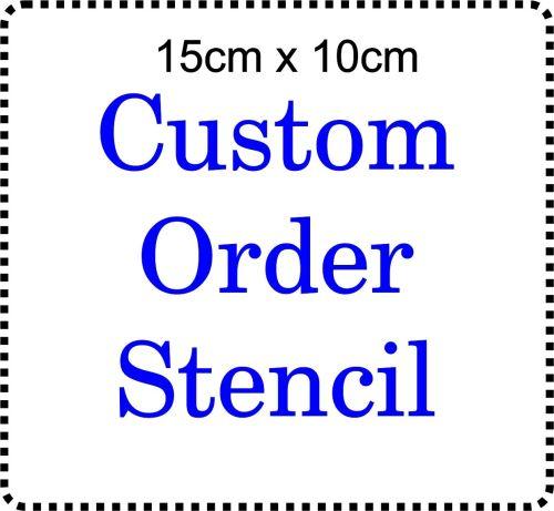 Custom order Cake Bespoke Stencil