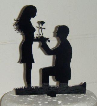 Proposal Silhouette Cake Topper 3