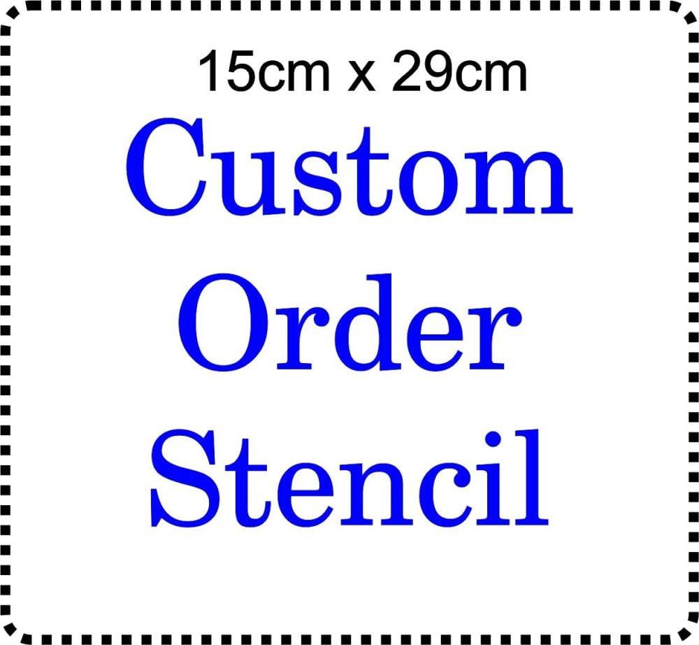 Custom order Cake Bespoke Stencil Large 6 inch deep 11.5inches long