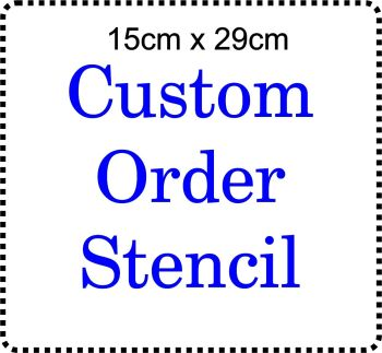 Custom order Cake Bespoke Stencil Large 6 inch deep 11.5inches long