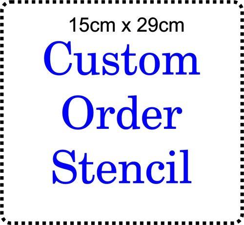 Custom order Cake Bespoke Stencil Large 6 inch deep