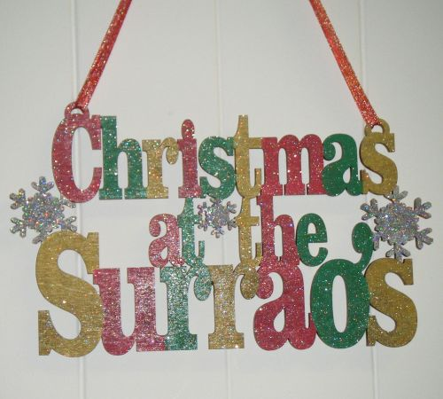Christmas at ... wooden plaque