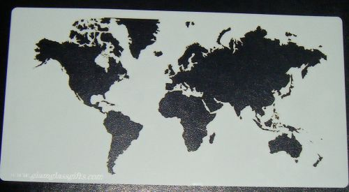 World Map Pattern Cake decorating stencil set Airbrush Mylar Polyester Film