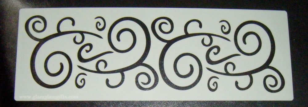 Swirls Pattern 3 Cake decorating stencil set Airbrush Mylar Polyester Film