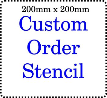 Custom order Cake Bespoke Stencil 8 Inch