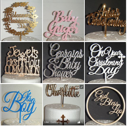 Baby/Christening/Communion etc Theme Toppers