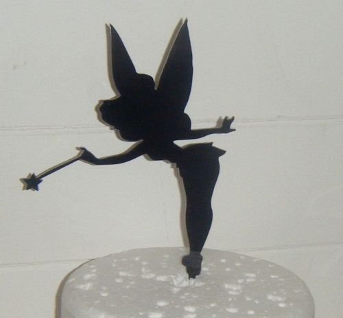 Tinkerbell Fairy Silhouette Cake Topper