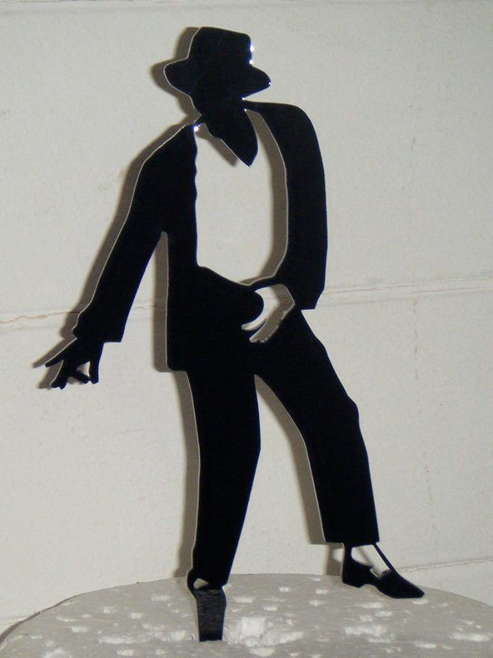 King of Pop Michael Jackson Silhouette Cake Topper