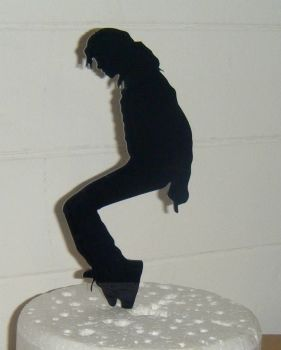 King of Pop Michael Jackson 2 Silhouette Cake Topper