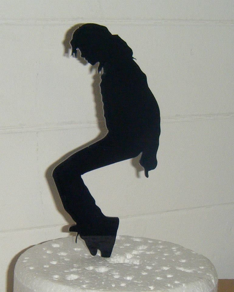King of Pop Michael Jackson 2 Silhouette Cake Topper