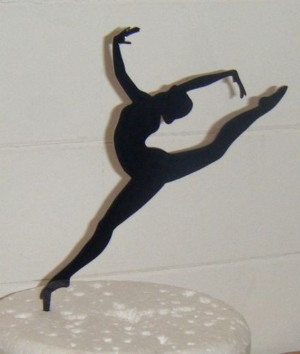 Dancer Gymnast Silhouette Cake Topper