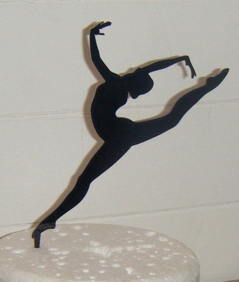 gymnast cake topper