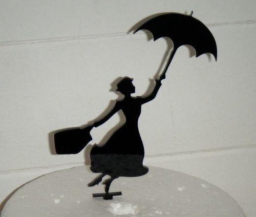 Mary Poppins Silhouette Cake Topper