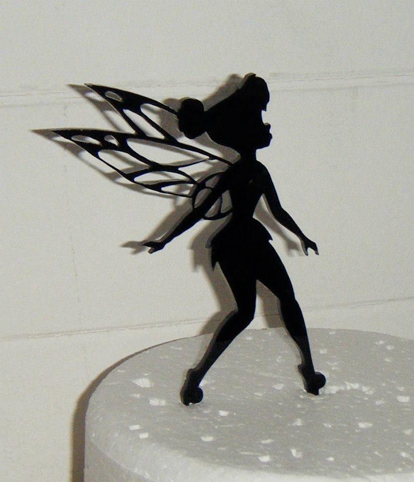 Tinkerbell Fairy 2 Silhouette Cake Topper