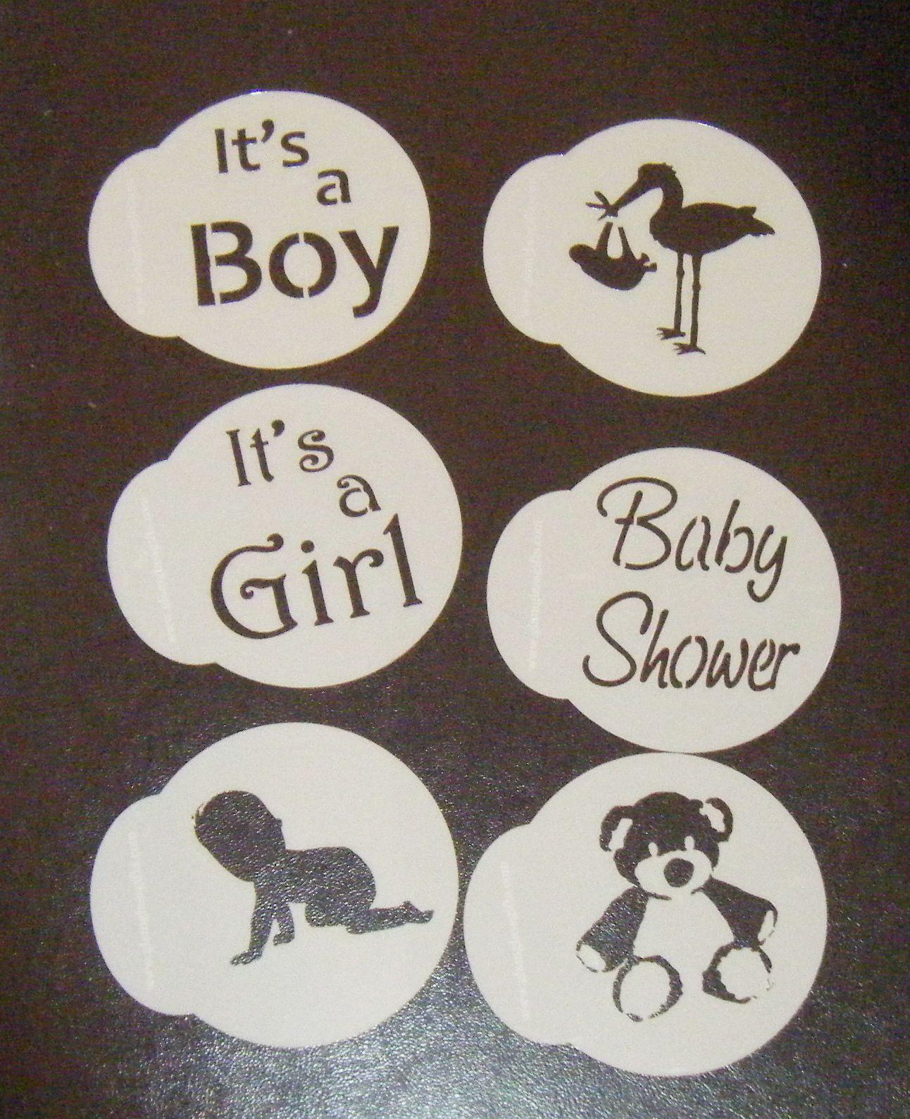Baby Shower Cupcake Stencils