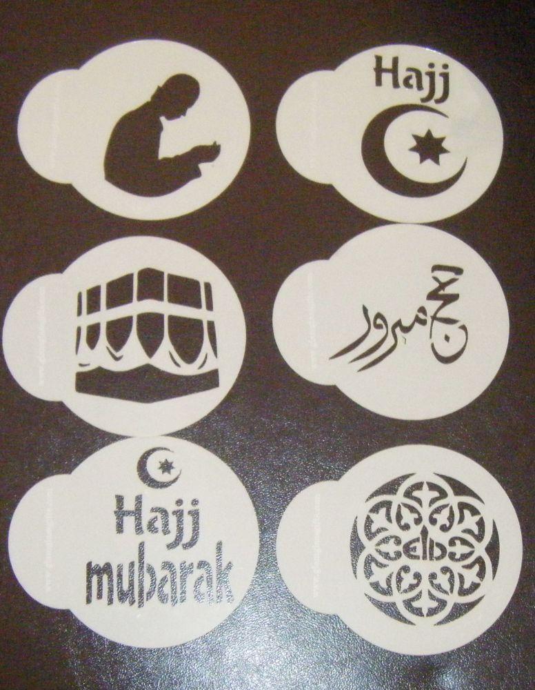6 x Hajj Eid cupcake Stencils