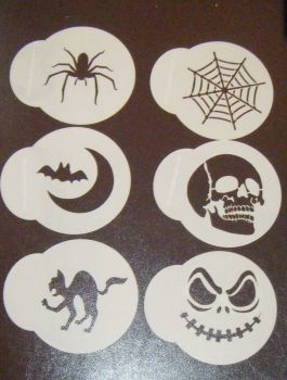 6 x Halloween Cupcake Cookie Stencils