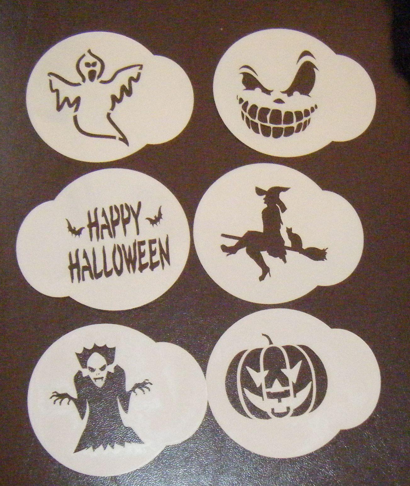 Halloween Cupcake Stencils
