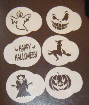 6 x Halloween 3 cupcake Stencils