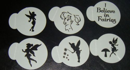 6 x Fairy cupcake Stencils