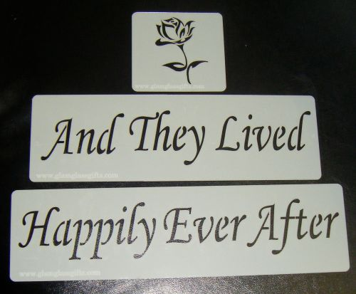 And They Lived Happily Ever After with Rose Cake Stencil