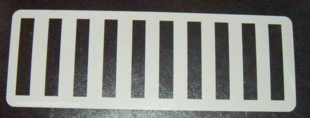 Vertical Stripes Cake decorating stencil set Airbrush Mylar Polyester Film