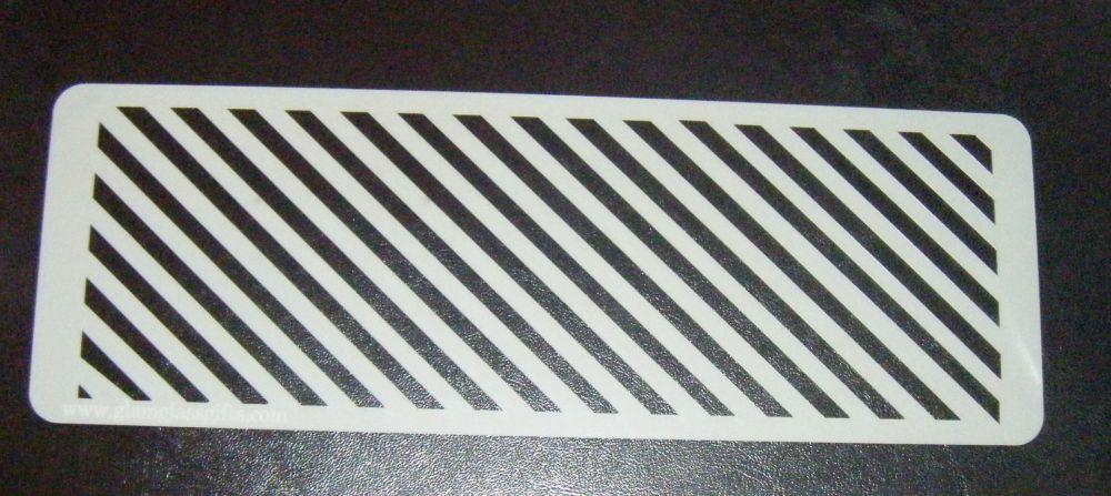 Diagonal Stripes Cake decorating stencil set Airbrush Mylar Polyester Film