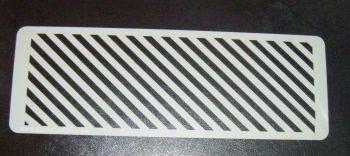 Diagonal Stripes Cake decorating stencil Airbrush Mylar Polyester Film