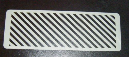 Diagonal Stripes Cake decorating stencil set Airbrush Mylar Polyester Film