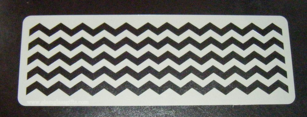 chevron x5 Stripes Cake decorating stencil set Airbrush Mylar Polyester Fil