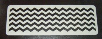 chevron x5 Stripes Cake decorating stencil set Airbrush Mylar Polyester Film