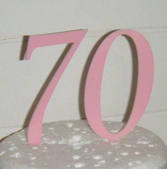 70 Cake Topper 1