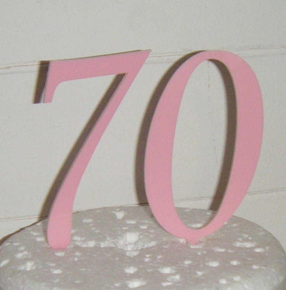 70 Cake Topper