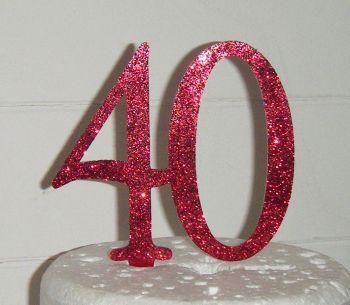 40 Cake Topper 1