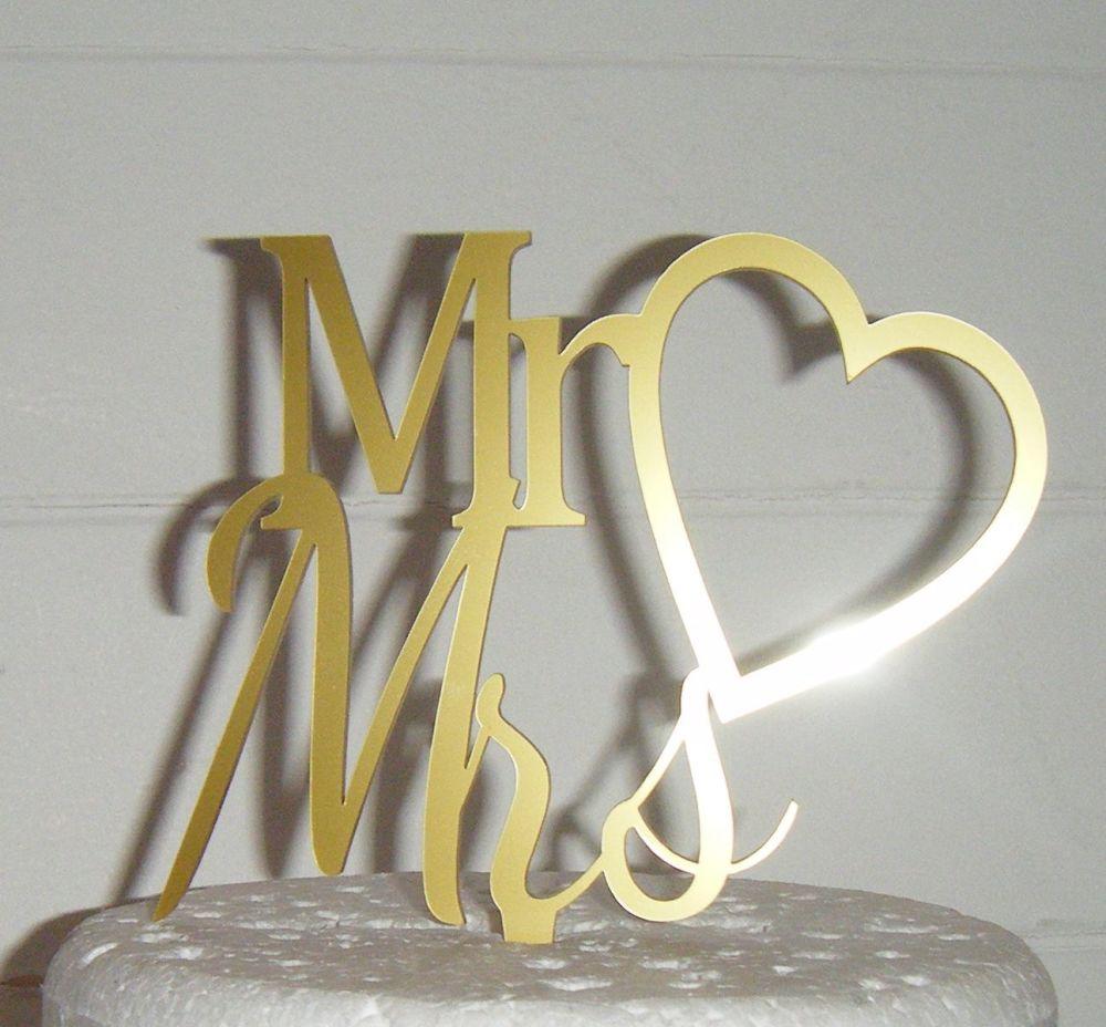 Mrs + Mr Cake Topper