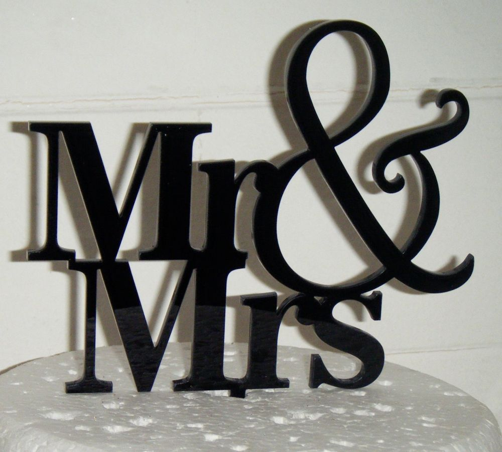 Mr + Mrs Cake Topper