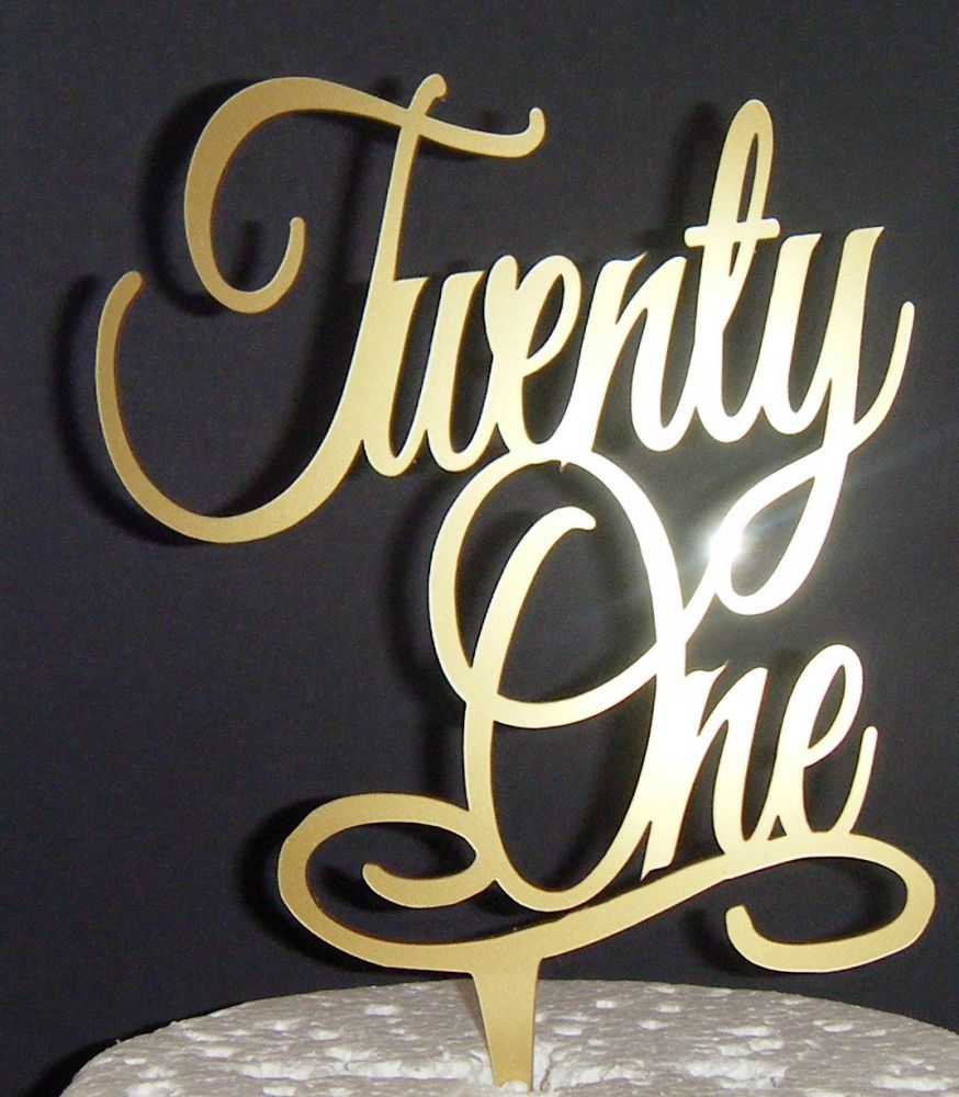 Twenty one 21 Cake Topper