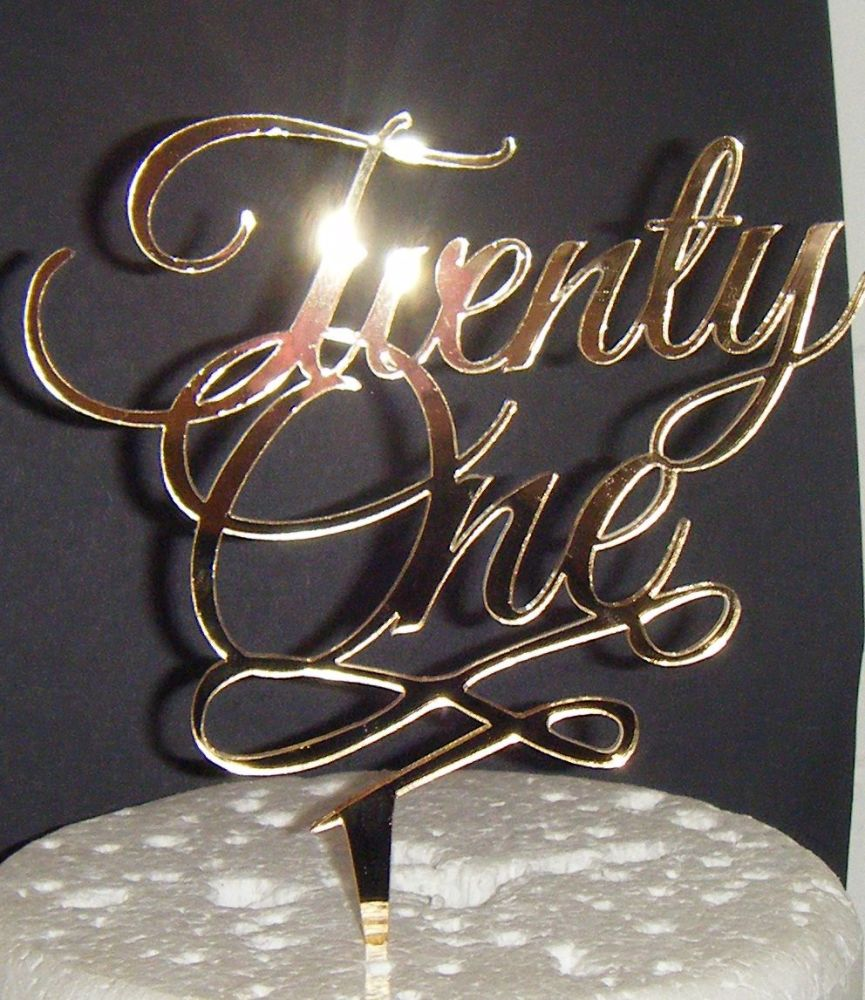 Twenty one 21 Cake Topper style 2