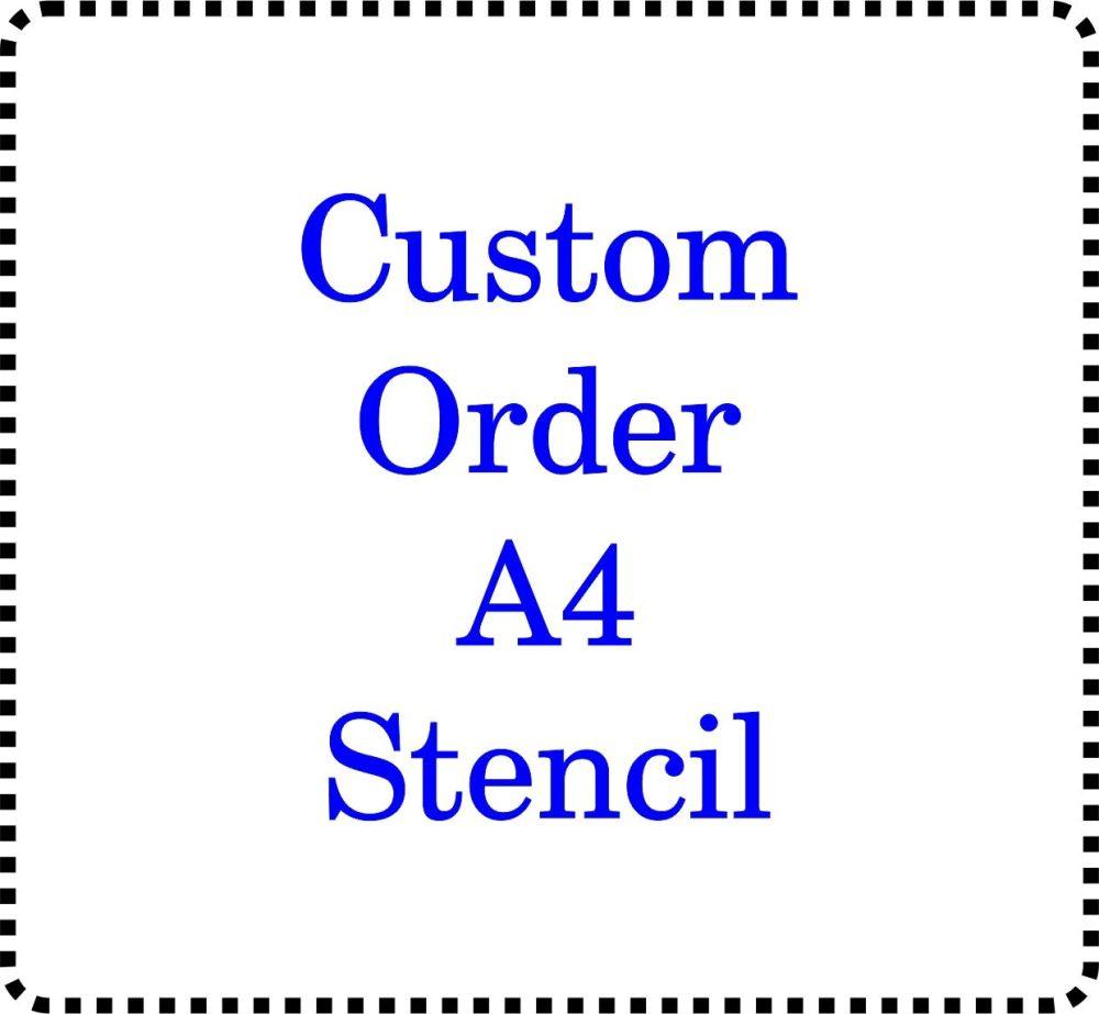 Custom Order Cake Bespoke Stencil Large A4
