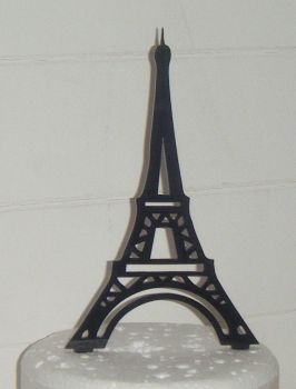 Eiffel Tower Silhouette Cake Topper  2