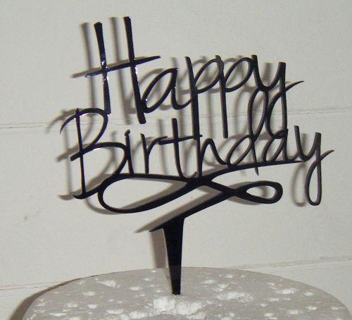 Happy Birthday Cake Topper 2