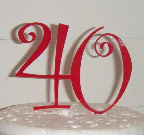 40 Cake Topper 3