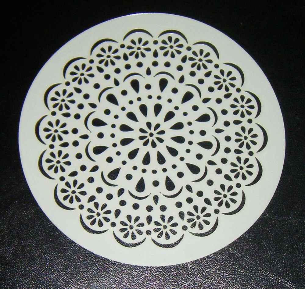 Doily circle design cake airbrush craft Stencil