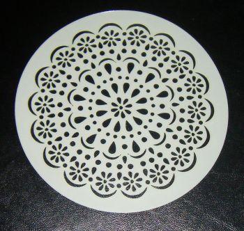 Doily circle design cake airbrush craft Stencil