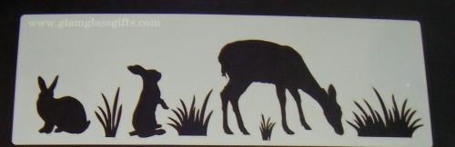 Safari Animals Cake decorating stencil set Airbrush Mylar Polyester Film