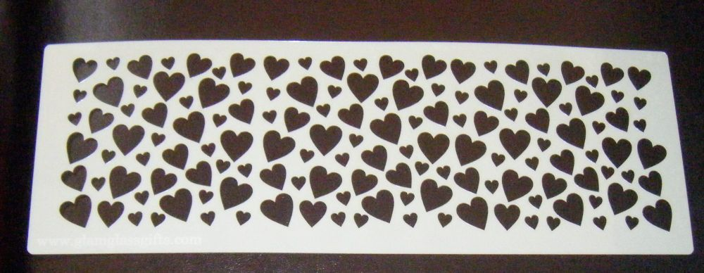 Hearts Cake decorating stencil set Airbrush Mylar Polyester Film